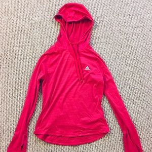 Small Adidas Climalite hooded running top